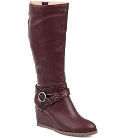 Journee Collection Women's Comfort Extra Wide Calf Garin Boot
