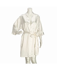 Lillian Rose Ivory Satin Bride Robe L/XL