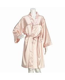 Blush Satin Maid of Honor Robe S/M