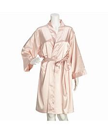 Blush Satin Maid of Honor Robe L/XL