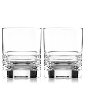 Set of 2 Percival Place Double Old Fashioned Glasses