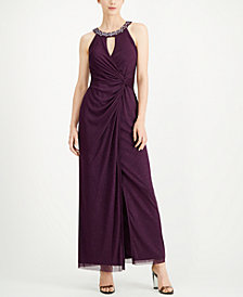 Jessica Howard Twisted Glitter Gown