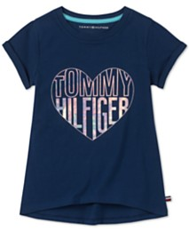 704c4c5a Tommy Hilfiger Big Girls Holographic Heart Cotton T-Shirt