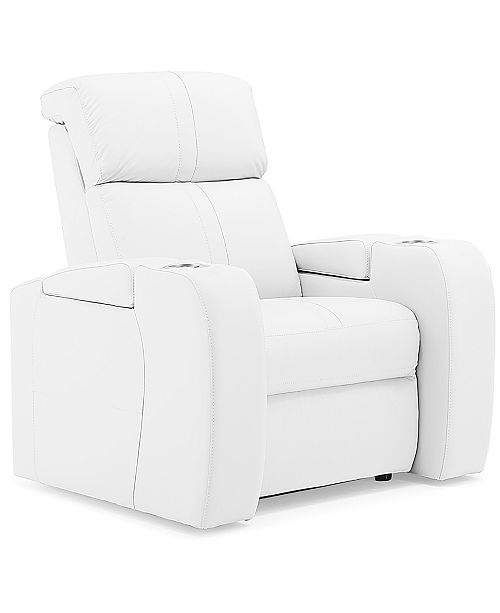 """Furniture Perison 39"""" Leather Theater Power Recliner"""
