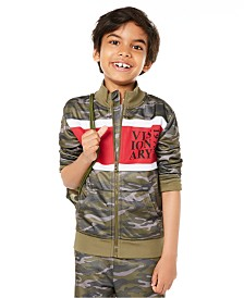 Epic Threads Little Boys Colorblocked Camouflage Tricot Jacket, Created for Macy's