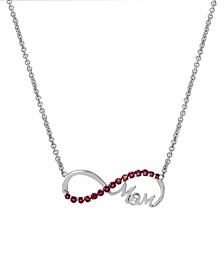 Ruby(5/8 c.t. tw.) & Diamond Accent Mom Infinity Pendant Necklace in Sterling Silver