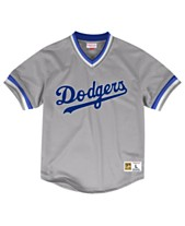 b71143475bd Mitchell & Ness Men's Los Angeles Dodgers Mesh V-Neck Jersey