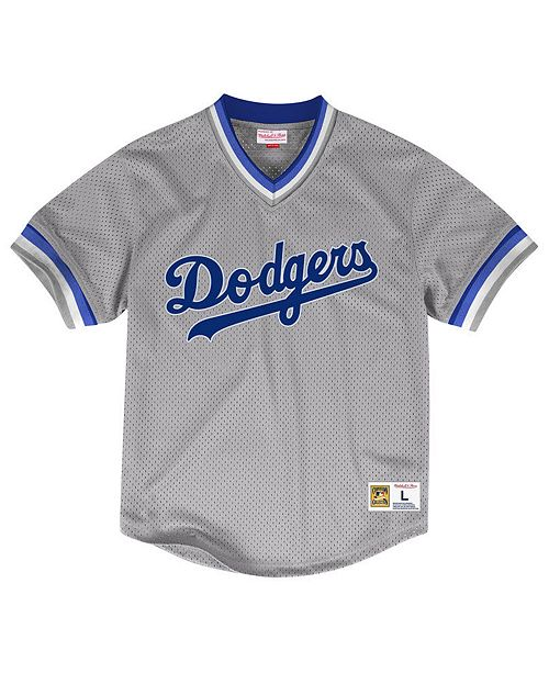 Mitchell & Ness Men's Los Angeles Dodgers Mesh V-Neck