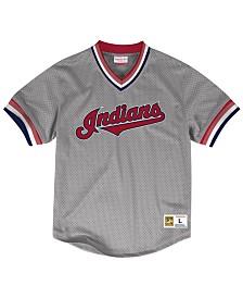 Mitchell & Ness Men's Cleveland Indians Mesh V-Neck Jersey