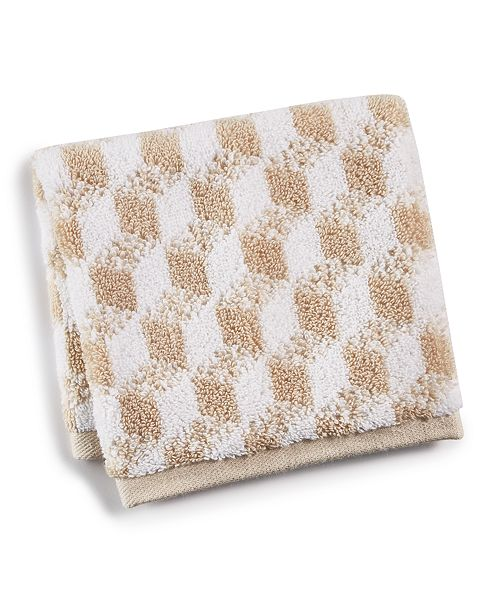 Hotel Collection Cube Turkish Cotton Fashion Washcloth, Created for Macy's