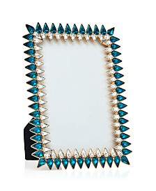Philip Whitney Stalacite Gold with Blue Frame - 4x6