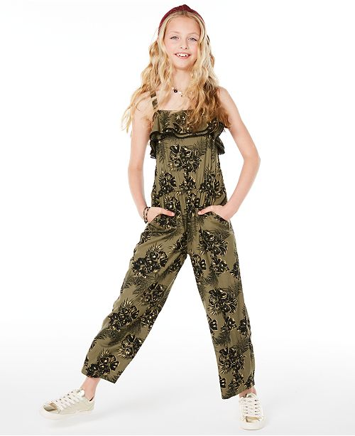 Epic Threads Big Girls Floral-Print Jumpsuit, Created for Macy's