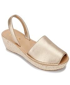 Women's Fine Glass Platform Wedge Sandals