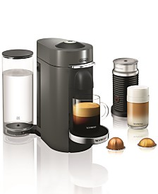 Nespresso by De'Longhi Vertuo Plus Deluxe Coffee & Espresso Maker with Aerocinno Frother