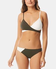 Vince Camuto Colorblocked Bikini Top & Bottoms
