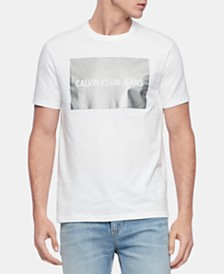 Calvin Klein Jeans Men's Metallic Institutional Logo Graphic T-Shirt
