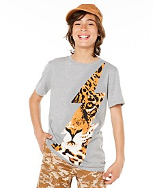 Epic Thread Big Boys Tiger Bolt T-Shirt, Created for Macy's