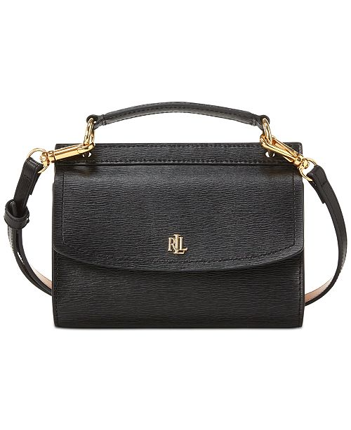 Lauren Ralph Lauren Leather Top-Handle Convertible Belt Bag