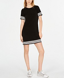 Petite Border-Striped T-Shirt Dress