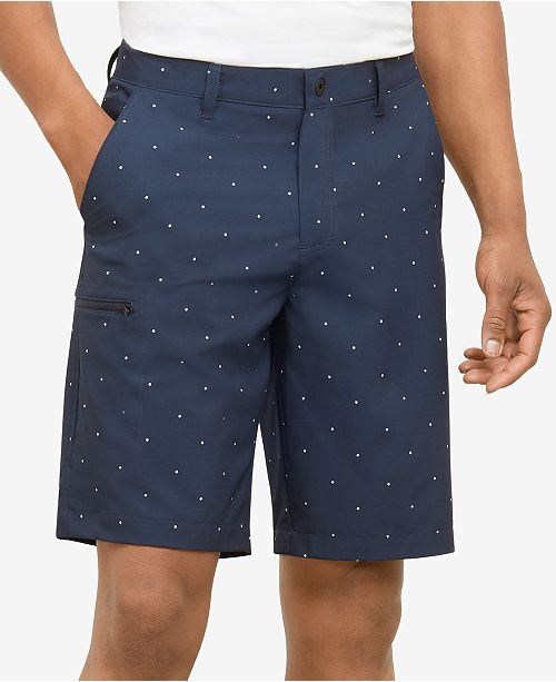 "Kenneth Cole Men's Star-Print 10"" Cargo Shorts"