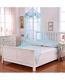 Cottonloft Buttons and Bows Collapsible Hoop Sheer Mosquito Net Bed Canopy