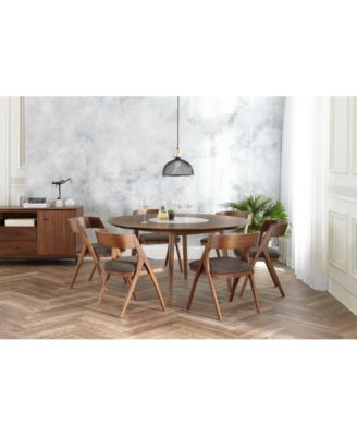 Oslo Dining Furniture, 7-Pc. Set (Lazy Susan Table & 6 Side Chairs), Created for Macy's
