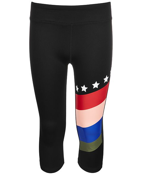 Ideology Big Girls Rainbow-Stripe Capri Leggings, Created for Macy's