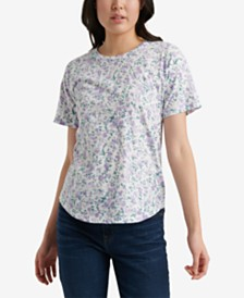 Lucky Brand Floral-Print Cotton T-Shirt