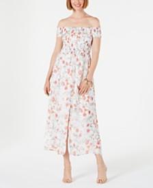 CeCe Smocked Off-The-Shoulder Dress