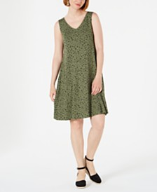 Style & Co Petite Printed Cross-Back Dress, Created for Macy's