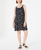 114de505f659 Style & Co Printed Flounce Tank Dress, Created for Macy's