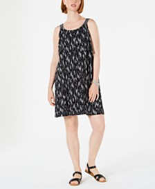 Style & Co Printed Flounce Tank Dress, Created for Macy's