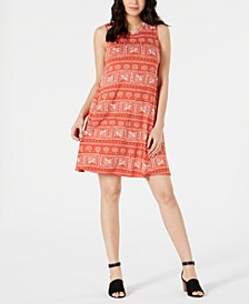 Printed Sleeveless Dress, Created for Macy's