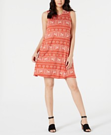 Style & Co Printed Sleeveless Dress, Created for Macy's