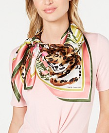 Feline Jungle Silk Square Scarf