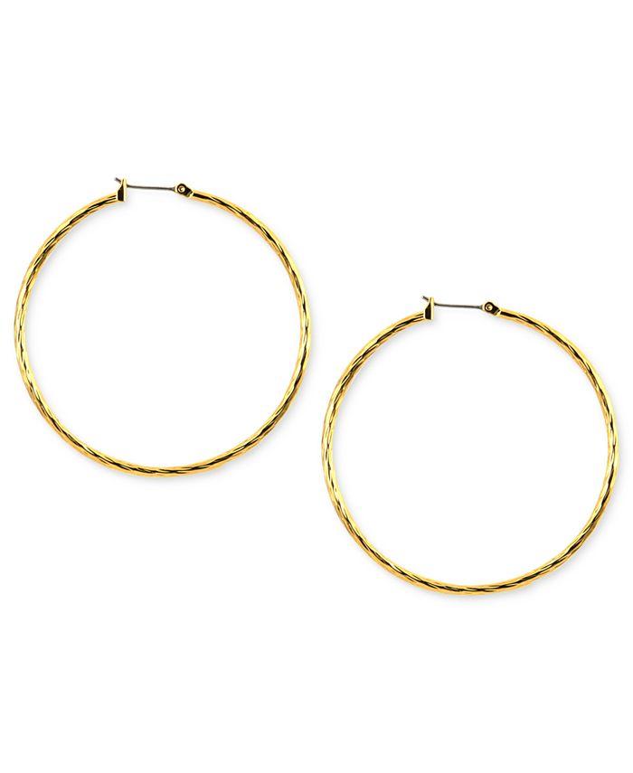 Anne Klein - Gold-Tone Hoop Earrings
