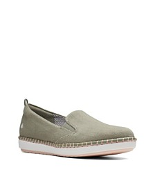 Clarks Women's Cloudsteppers Step Glow Slip Canvas Flats