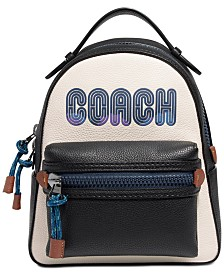 COACH Logo Campus Leather Backpack 23