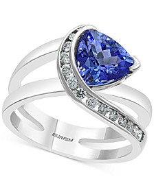 EFFY® Tanzanite (1-1/2 ct. t.w.) & Diamond (1/4 ct. t.w.) Statement Ring in 14k White Gold