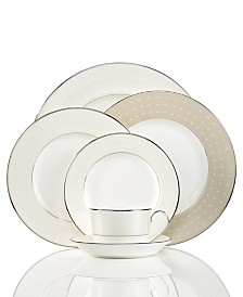Monique Lhuillier Waterford Dinnerware, Etoile Platinum Collection