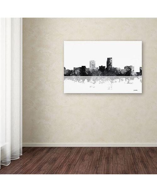 Trademark Global Marlene Watson 'Omaha Nebraska Skyline BG
