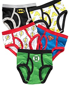 Justice League 5-Pk. Cotton Briefs, Little Boys & Big Boys