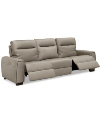 Cheadle 3-Pc. Leather Sectional Sofa with 2 Power Recliners, Created for Macy's