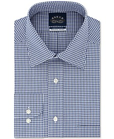 Men's Big & Tall Classic/Regular-Fit Non-Iron Stretch-Collar Check Dress Shirt