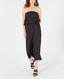 Juniors' Chain-Print Popover Jumpsuit