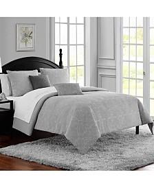 Waterford Mila Garment Washed Cotton Jacquard 3Pc King Comforter Set