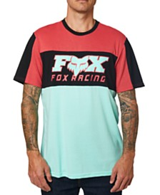 Fox Men's Pinned Colorblocked Logo Graphic Jersey T-Shirt