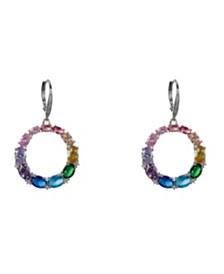Nina Rainbow Frontal Hoop Earrings