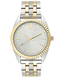 I.N.C. Men's Two-Tone Stainless Steel Bracelet Watch 42mm, Created for Macy's