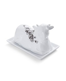 Fitz & Floyd  Farmstead Home Cow Covered Butter
